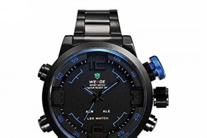 Gute WEIDE Men Military Watch 3ATM LED Digital Analog Dual Time New Sports Quartz Wristwatches